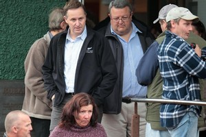 Prime Minister John Key and Energy Minister Gerry Brownlee in Greymouth. Photo / Herald on Sunday