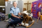Inspector Brigitte Nimmo in the community drop-in centre at the Salvation Army Citadel in Greymouth. Photo / Mark Mitchell