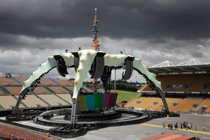 U2's huge set aims to give Mt Smart Stadium a more intimate feel. Photo / Sarah Ivey