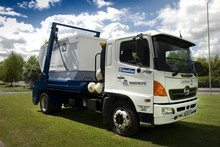 Auckland's first rubbish truck to run on biogas matches the performance of a diesel engine but is more environmentally friendly. Photo / Supplied