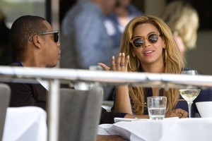 Beyonce and her husband Jay Z at the Soul Bar. Photo / Richard Robinson