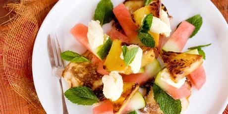 Buttermilk pancakes, grilled pineapple and watermelon. Photo / Babiche Martens