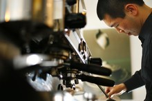 David Huang honing his craft. Photo / The Aucklander