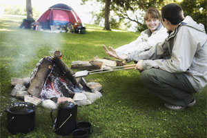 Campside cooking is a way to try recipes you wouldn't attempt at home. Photo / Thinkstock