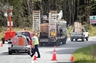 Drilling equipment on its way to Pike River mine. Photo / Mark Mitchell