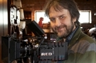 Sir Peter Jackson with a Red Epic camera. Photo / Supplied