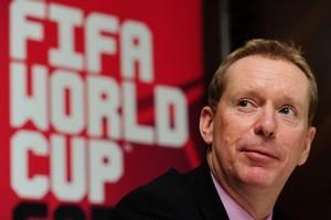 England 2018 chief executive Andy Anson. Photo / AP