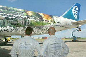 "In 2002, a Lord of the Rings paint job helped Air NZ brand itself as the ""airline to Middle-earth"". Photo / Brett Phibbs"