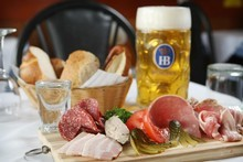 The Brettlejause platter at Der Metz. Photo / Greg Bowker 