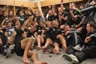 The All Blacks celebrate their win over Wales. Photo / Getty Images