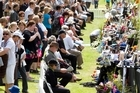 Members of the public arrive at the Remembrance Service for the Pike River miners. Photo / NZ Herald