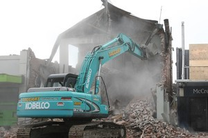 A building is demolished in Christchurch after the earthquake. Photo / Bay of Plenty Times