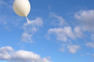A Niwa balloon is released in order to gather ozone layer pressure readings. Photo supplied