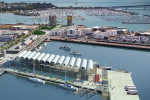 How the waterfront will look by the Rugby World Cup 2011. Image / Supplied