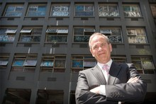 Len Brown says people have been disgusted by the state of the building 'and we are not going to accept it in the heart of our CBD'. Photo / Greg Bowker