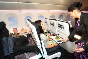 Lie-flat beds on Air New Zealand flights will be a godsend for cattle class regulars. Photo / Natalie Slade