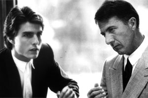 Dustin Hoffman (R) played an autistic savant in the 1988 movie Rain Man. Photo / Supplied
