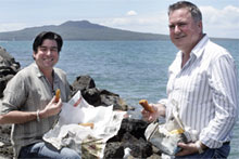 MasterChef NZ judges Ross Burden and Simon Gault taste the food of the masses. Photo / Herald on Sunday 