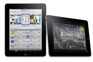 Apple's iPad displaying AppStore and games. Photo / Supplied