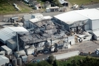 The severely-damaged Silver Fern meat works. Photo / Herald on Sunday