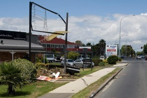 The driver died instantly in this Mangere crash. Photo / Richard Robinson