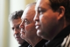 The All Black triumvirate of Wayne Smith, Graham Henry and Steve Hansen. Photo / Getty Images