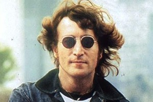 John Lennon was photographed with his killer near his home on the day he was murdered. Photo / Supplied