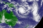 This satellite image from March this year shows Cyclone Tomas (right) over Fiji and Cyclone Ului (left) over the Solomon Islands. Photo / Supplied