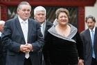 The Maori King Tuheitia Paki and his wife Te Atawhai. Photo / Greg Bowker