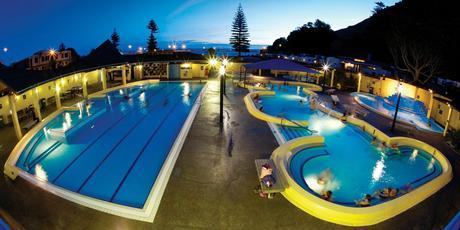 There's plenty of hustle and bustle at the Mount Maunganui Hot Salt Water Pools. Photo / Supplied