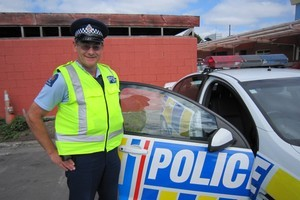Constable Andy Flitton ticketed the same man in London and Rangiora for speeding. Photo / Supplied