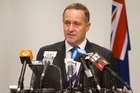 Prime Minister John Key during his post-Cabinet press conference in Wellington today. Photo / Mark Mitchell