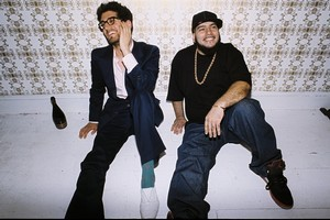 Chromeo's P-Thugg and Dave-1 have revealed a more daring side on their latest album. Photo / Supplied