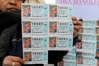 Christmas lottery tickets for sale in Spain. Photo / Bloomberg.