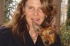 Italian style icon Anna Dello Russo with her dog Cucciolina. Photo / Supplied