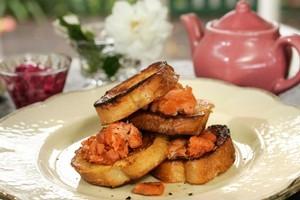 Smoked salmon on toast. Photo / Janna Dixon