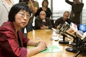 Pansy Wong announces her resignation from Parliament this morning. Photo / Mark Mitchell