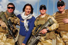 Kylie Phaup-Stephens with New Zealand troops in Afghanistan. Photo / Supplied