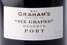 Graham's Six Grapes Reserve Port, $59.00. Photo / Supplied