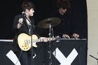 People dance while 'The XX' perform at the Laneway Festival held at the Britomart earlier this year. Photo / NZ Herald