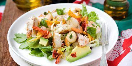 Seafood with avocado and chilli oil. Photo / Babiche Martens