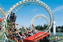 Ride the roller coaster at Rainbow's End. Photo / Supplied