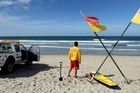 The Mount Maunganui beach is closed after the shark encounter. Photo / Alan Gibson.