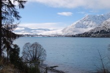 A view from Queenstown looking towards the Remarkables. Photo / Philippe Dierick 