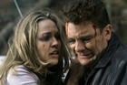Angela Dotchin and John Leigh in 1997's <i>Shortland Street</i> cliffhanger - the plane crash. Photo / Supplied