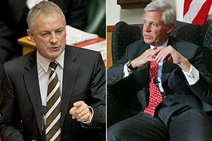 Phil Goff, left, and Charles Swindells. Photos / Mark Mitchell