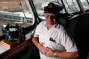 Captain Charlie Carr is impressed by his new ship's speed. Photo / Sarah Ivey