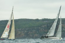 Teams take part in last year's Sydney to Hobart race. Photo / Getty Images