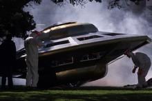 A staged UFO landing. File photo / Mark Mitchell