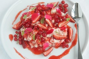 Strawberry Eton Mess. Photo / Ian Jones